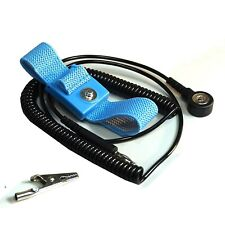 Static Care Esd Anti-Static Wrist Strap Coil Cord Set, Blue, Pack of 5