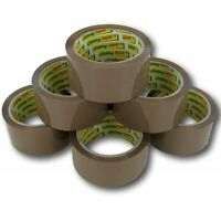 Brown Buff Tape Parcel Packing Packaging Cellotape Box Sealing 48MM x 66M Rolls