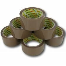 More details for brown tape stikky parcel packing packaging cellotape box sealing 48mm x66m rolls