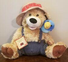"""Chantilly Lane 12"""" Pete & Tweet Duet Zip a Dee Do Dah Singing Plush Bear & Bird"""