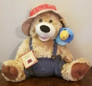 "Chantilly Lane 12"" Pete & Tweet Duet Zip a Dee Do Dah Singing Plush Bear & Bird"