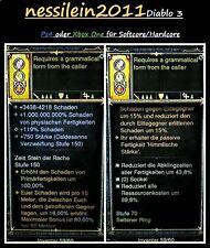 Diablo 3 Ps4/Xbox One - 2x Ringe 1x Amulett + 1.000.000.000% Damage Unsterblich