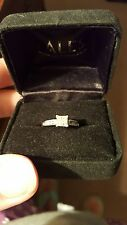 14k white gold diamond ring size 5