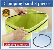 Wenko 3PK Elastic Adjustable Wheelie Dustbin Bin Bag Clamping Strap *UK Seller*