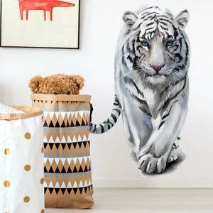 3D Animals White Tiger Vinyl Wall Decal Nursery Baby Room Decor Sticker Gift