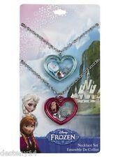 Disney Frozen Elsa and Anna BFF Girl Necklace Shaker Heart Pendant Best Friends