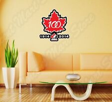 "Canada Hockey Team 100th Anniversary Wall Sticker Room Interior Decor 20""X25"""
