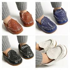 Newborn Baby Boy Crib Shoe Infant Toddler Casual Shoes Slip on PreWalker Trainer