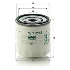Mann Oil Filter Spin On For Ford Courier 1.3