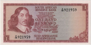 South Africa 1967 1 Rand Replacement Note P# 109bz Uncirculated