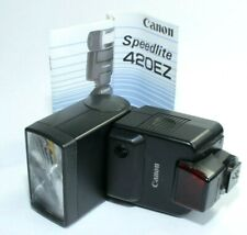 CANON Speedlite 420EZ Camera Flash with Case and Instructions. Tested.