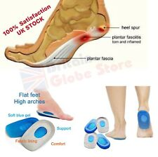 Silicone Heel Support Shoes Pad Insoles Pain Relief Orthotic Plantar Fasciitis