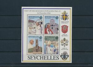 LO28787 Seychelles 1986 pope John Paul II fp good sheet MNH