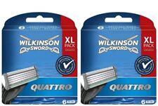 Wilkinson Sword Quattro Rasierklingen 2 X 6=12  Ersatzklingen XL Pack Original )