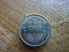 Bright Shiny 2001 Gibralter £ 1 Coin Castello e chiave aUNC (ref33)