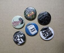 6 X Sonic Youth buttons (25mm, badges, pins, punk, kim gordon, experimental)