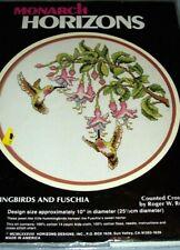 "Counted Cross Stitch - Monarch Horizons - Hummingbirds and Fuschia - CS66 10"""