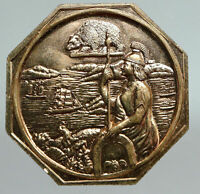 1948 USA CALIFORNIA Commemorative VINTAGE Old GOLD RUSH Panning Medal i90787