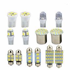 14x T10 LED Car Light Bulb Set Lamp Interior Dome Map Cool White Kit Roof Bright