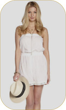 new Size MEDIUM BRODERIE ANGLAISE PLAYSUIT by ADORE ~ WHITE ~ 100% COTTON ~ BNWT
