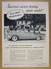 1955 Studebaker SPEEDSTER President State V8 car photo vintage print Ad