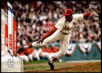 Bob Gibson 2020 Topps Short Print Variations 5x7 #508 /49 Cardinals
