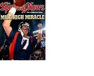 "1998 MINT ""MILE HIGH MIRACLE"" JOHN ELWAY DENVER BRONCOS SUPER BOWL CHAMP POSTER"