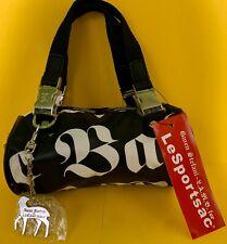 Gwen Stefani Le Sportsac LAMB Mini Handbag Retired Black White Purse & Charm NWT