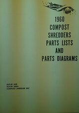 Gilson Wards Garden Composter 1960-1975 Parts Manual 34pg Kutup Mulcher Grinder