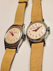 Vintage 1960/70s Disney Snow White Little Girl's Mechanical Watches  Lot of 2