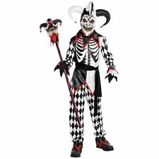 Children's Scary Sinister Jester Halloween Party Fancy Dress Costume 14-16 yrs
