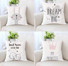 Throw Pillowcase Printed Animal Cushion Cover Children Kids Room Home Decoration