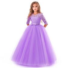 Flower Girl Dress Princess Party Wedding Bridesmaid Kid Formal Gown Long Dresses