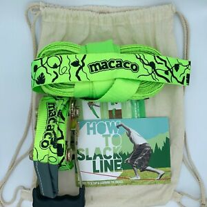 """Macaco Slackline 52'x 2"""" (16 Meter) w Booklet and Carry Bag"""