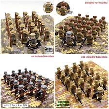 5pc Ger man MedicMilitary WWII Soldier Custom Minifigure FREE LEGO BRICK UK