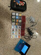 Nintendo 3DS Console Lot & 24 Games  Mario Kart Lego  Mario Case Charger Car