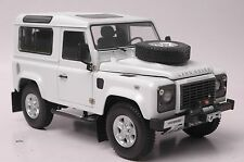 Land Rover Defender 90 car model in scale 1:18 white (Two spare tire)