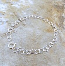 Sterling Silver Young Girl's  6-inch Heart  Charm Bracelet