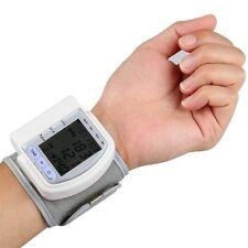 LCD Digital Wrist Blood Pressure Monitor Heart Beat Meter 60 Memory - 3 KEY