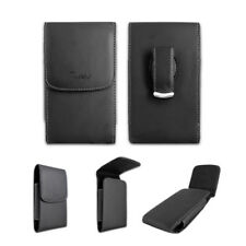 Black Leather Case Pouch Holster w Belt Clip for Tracfone LG Ultimate 2 L41c
