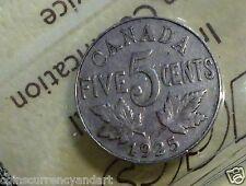 1925  - Canada 5 cents - ICCS Graded