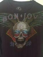 NEW Rare Vintage Bon Jovi 1989 Skull T-Shirt Size M