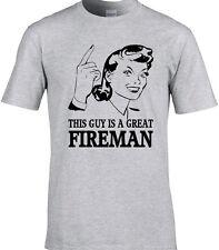 Fireman Mens T-Shirt Gift Idea Occupation Fire Emergency Services Firefighter