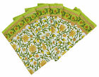 6 x Floral White Cotton Fabric Linens Dinner Table Napkins, 20-inch