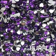 Love Heart Flat Back Crystal Beads 8/10/12mm Resin Rhinestone Gems Mosaic Craft