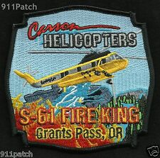 Grants Pass, OR - Carson Helicopters S-61 Fire King FIREFIGHTER Patch Fire Dept