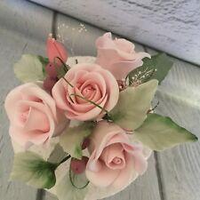Pink Sugar Rose Cake Decoration/Cake Topper
