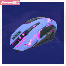 Pop Cosplay Anime Game Overwatch OW DVA Night Lights Laptop USB Cool Wired Mouse