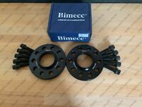 BIMECC ALLOY WHEEL SPACERS TAPERED BOLTS 15MM 5X112 66.6 AUDI A6 S6 RS6 C7 PAIR