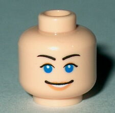 HEAD FF003 Lego Female Blue Eyes Pink Lips Scared/Smiling  NEW Flesh